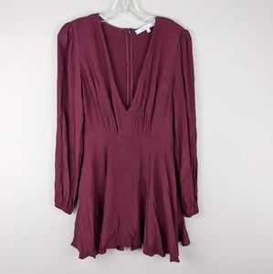 Lovers + Friends | Maroon Long Sleeve Dress